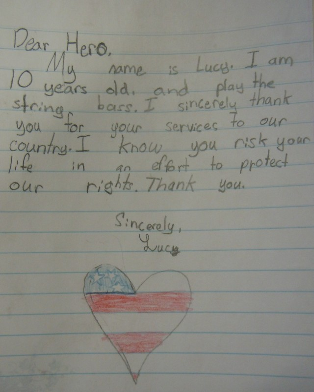 """15 tear-worthy """"Thank You"""" notes to soldiers written by"""