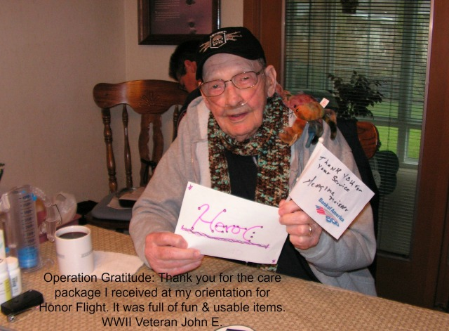 Honor Flight WWII Veteran