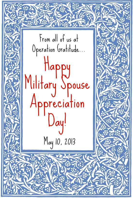 Happy Military Spouse Appreciation Day! | Operation ...