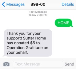 Send a Text to Support our Troops!