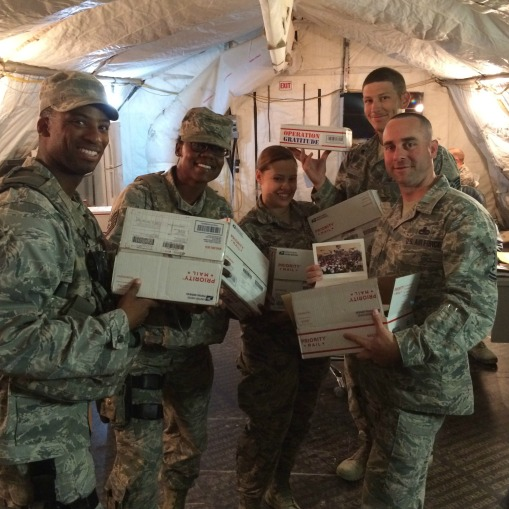 Operation Gratitude Care Packages = SMILES!