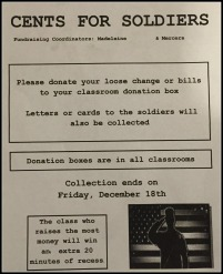 """Cents for Soldiers"" Flyer"